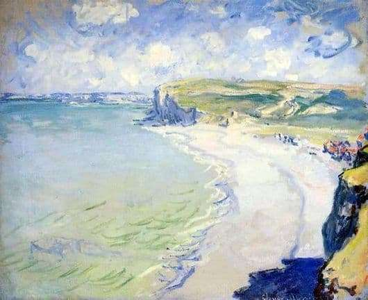 Description of the painting by Claude Monet The Beach at Purville