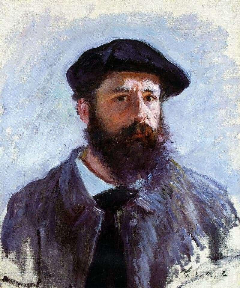 Description of the painting by Claude Monet Self portrait