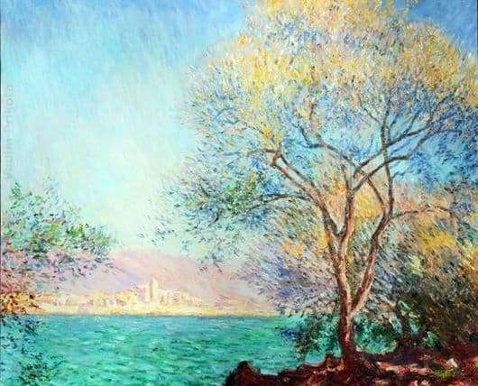 Description of the painting by Claude Monet Antibes in the morning
