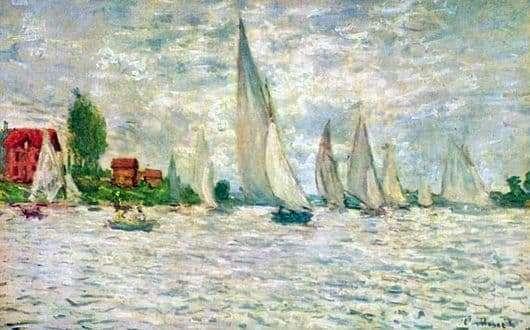 Description of the painting by Claude Monet Sailboats