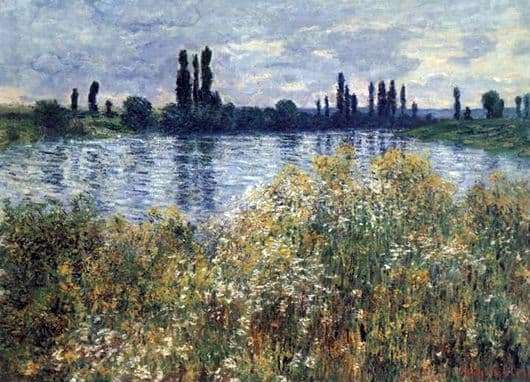 Description of the painting by Claude Monet Seine Coast
