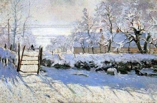Description of the painting by Claude Monet Magpie