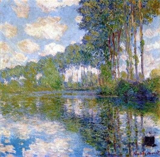 Description of the painting by Claude Monet Topol