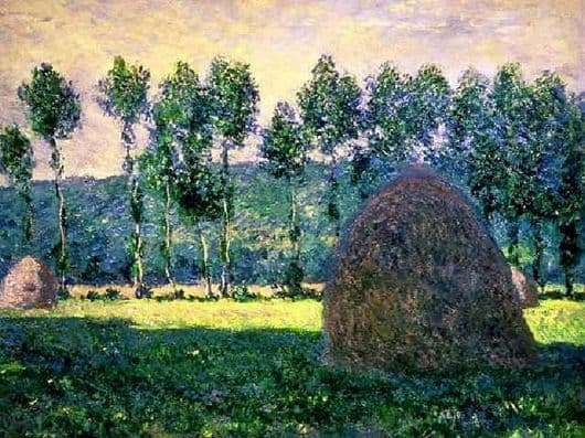 Description of the painting by Claude Monet Haystack in Giverny
