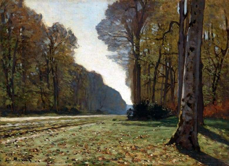 Description of the painting by Claude Monets The Road