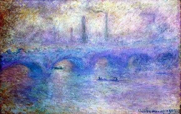 Description of the painting by Claude Monet Waterloo Bridge. Fog effect