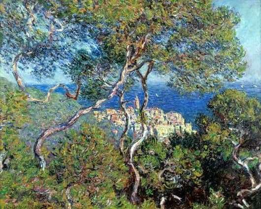 Description of the painting by Claude Monet Bordighera