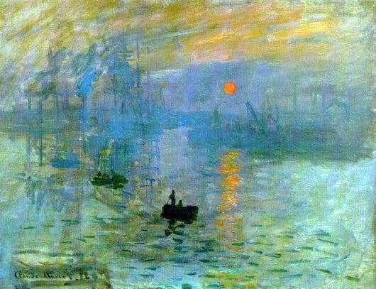 Description of the painting by Claude Monet Impression, sunrise