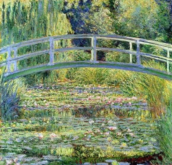 Description of the painting by Claude Monet Japanese Bridge (pond with water lilies)