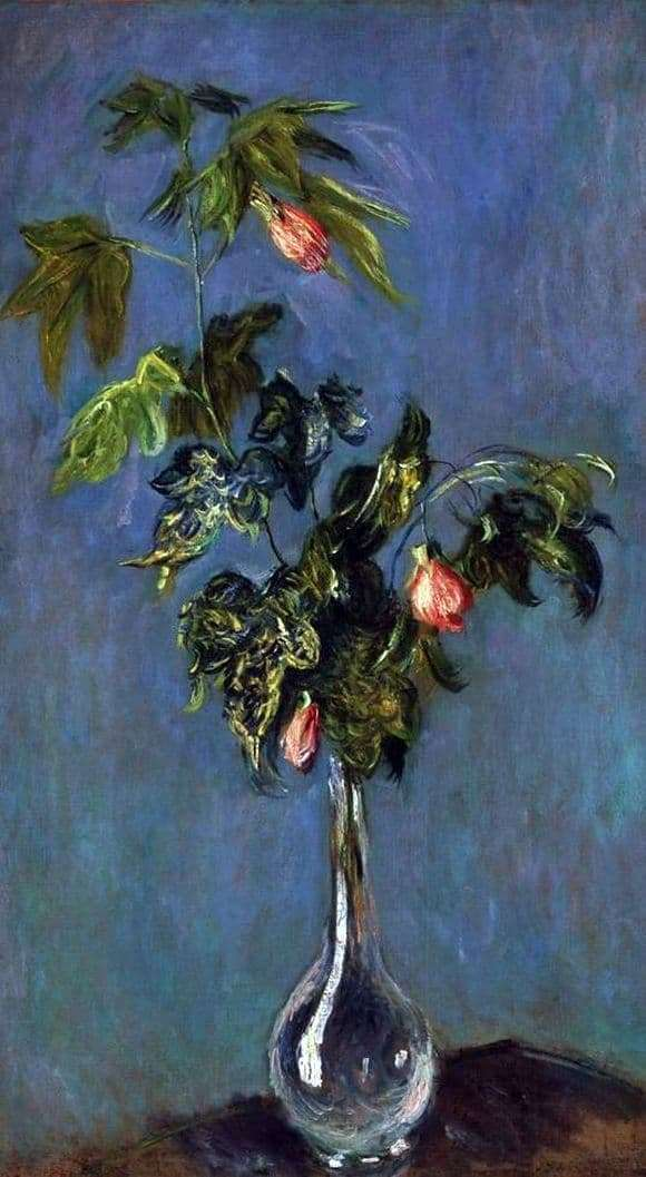 Description of the painting by Claude Monet Flowers in a Vase