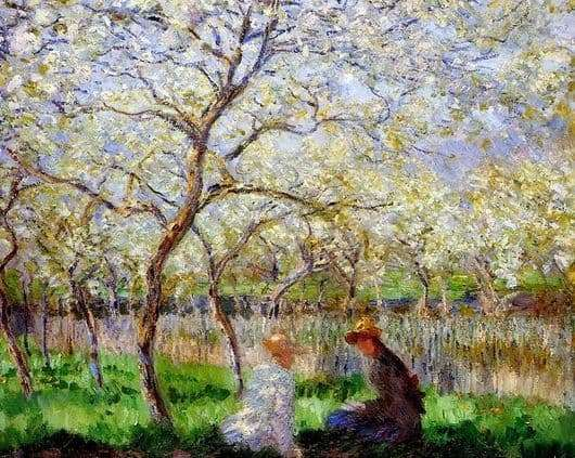 Description of the painting by Claude Monet Spring