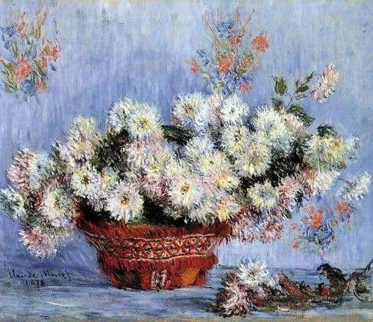 Description of the painting by Claude Monet Chrysanthemums