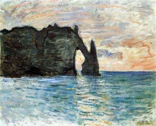 Description of the painting by Claude Monet The Rock in Etretat