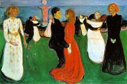 Description of the painting by Edward Munch Dance of Life