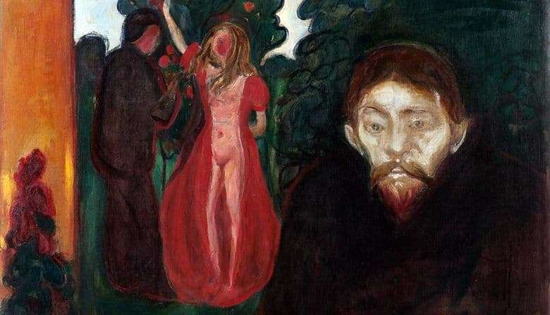 Description of the painting by Edward Munch Jealousy
