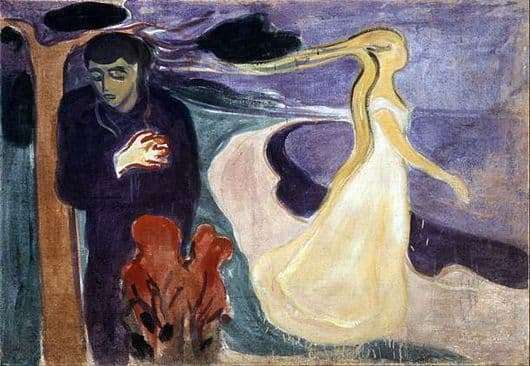 Description of the painting by Edward Munch Parting