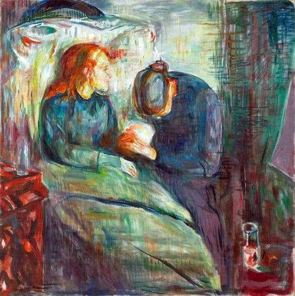 Description of the painting by Edward Munch Sick Girl