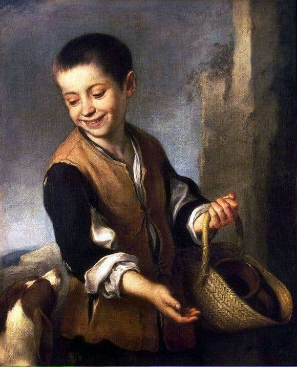 Description of the painting by Bartolome Esteban Murillo Boy with a dog