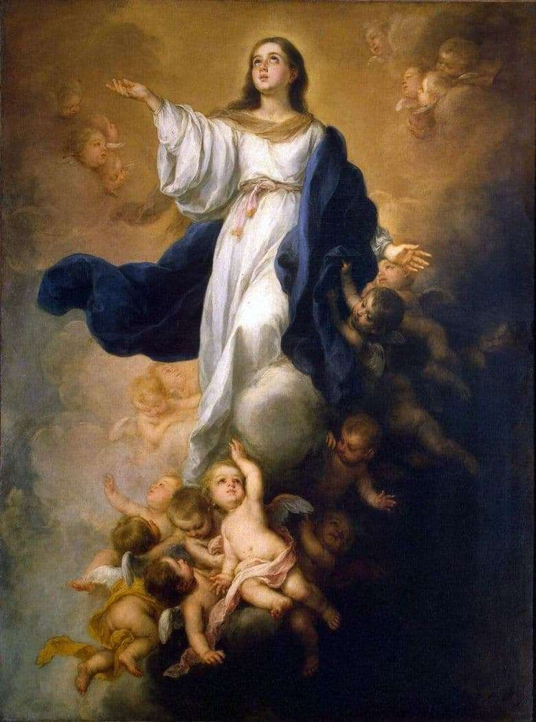 Description of the painting by Bartolome Esteban Murillo Ascension of the Virgin Mary