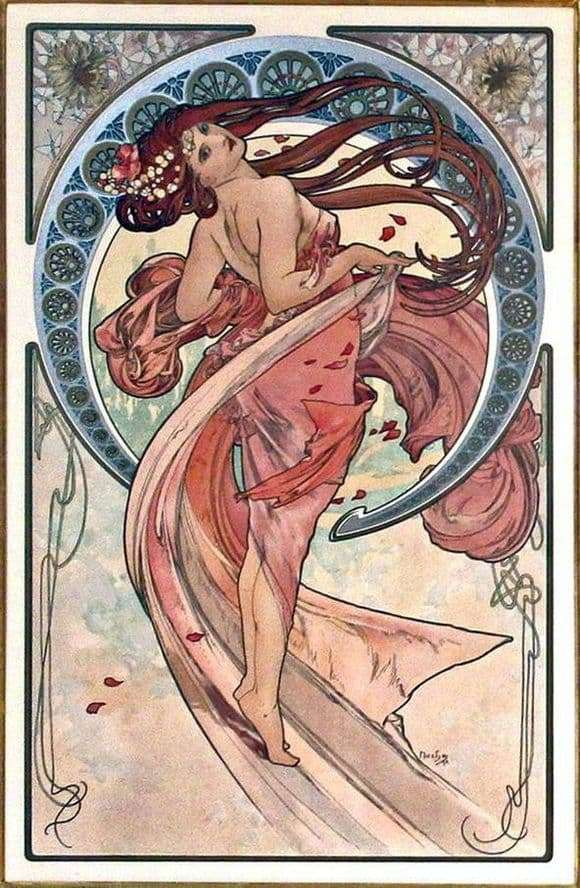 Description of the painting by Alphonse Mucha Dance