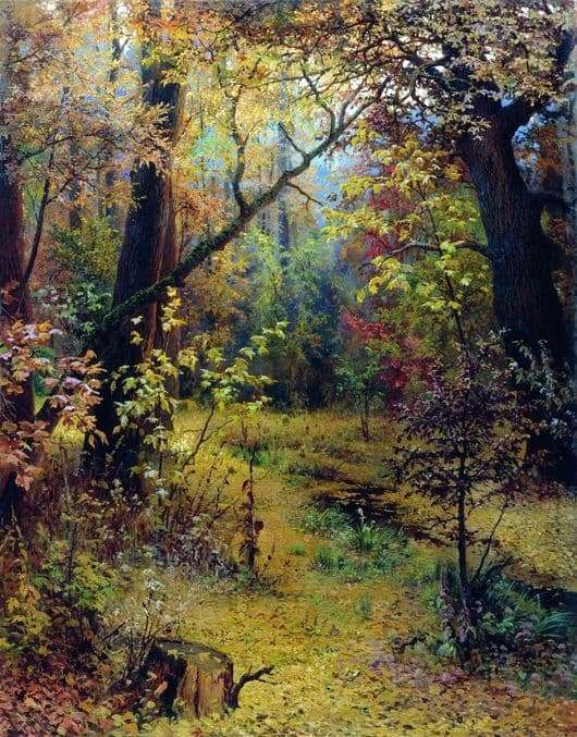 Description of the painting by Gregory Myasoedova Autumn morning