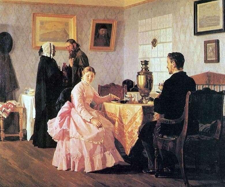 Description of the painting by Nikolai Nevrev Bride