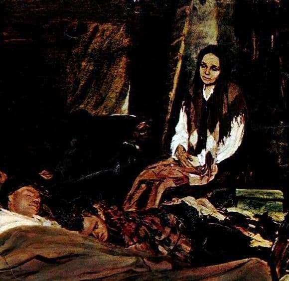 Description of the painting by Boris Nemensky Mother