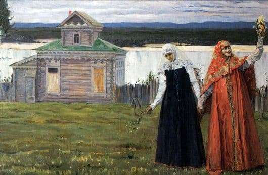 Description of the painting by Mikhail Nesterov Sisters