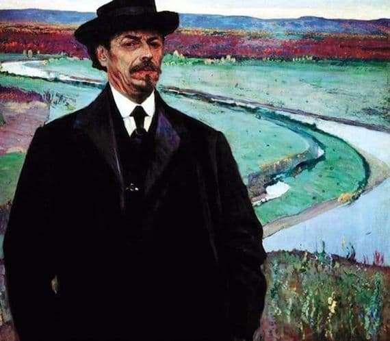 Description of the painting by Mikhail Nesterov Self portrait