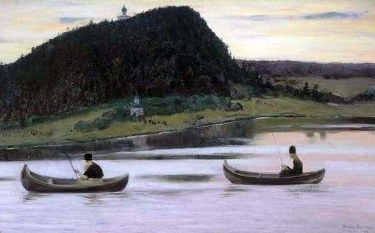 Description of the painting by Mikhail Nesterov Silence