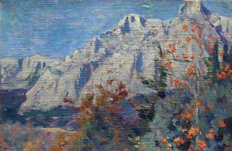 Description of the painting by Mikhail Nesterov Mountains