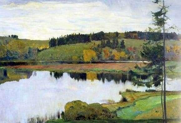Description of the painting by Mikhail Nesterov Autumn Landscape