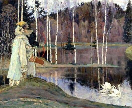 Description of the painting by Mikhail Nesterov Two frets