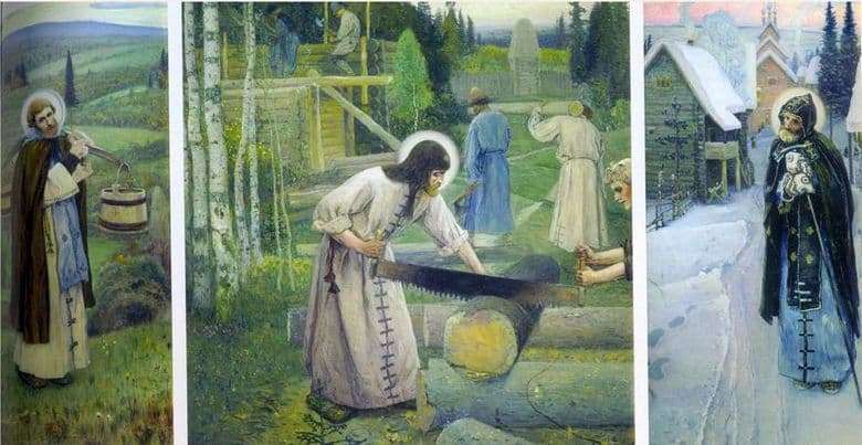 Description of the painting by Mikhail Nesterov Works of St. Sergius