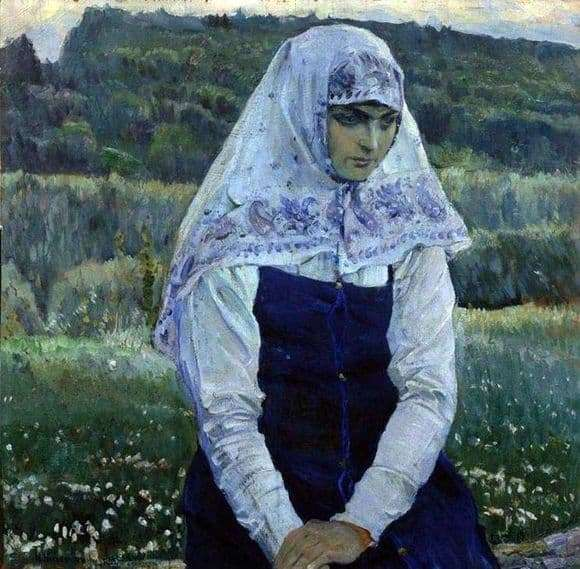 Description of the painting by Mikhail Nesterov Christs Bride