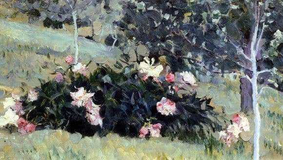 Description of the painting by Mikhail Nesterov Peonies