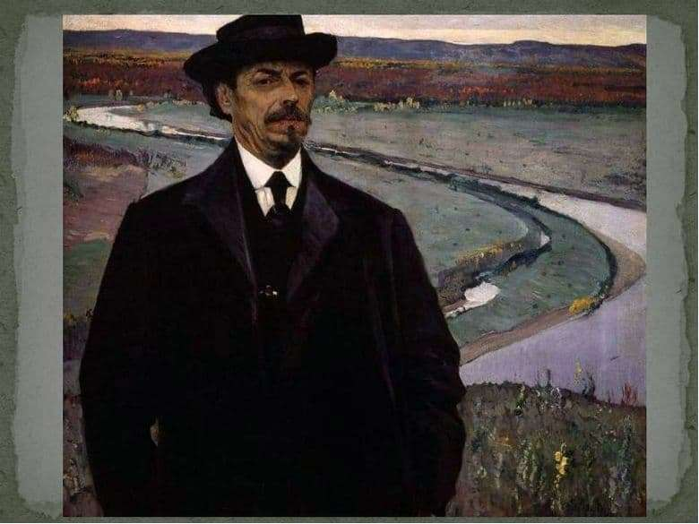 Description of the painting by Mikhail Nesterov Self portrait 1928
