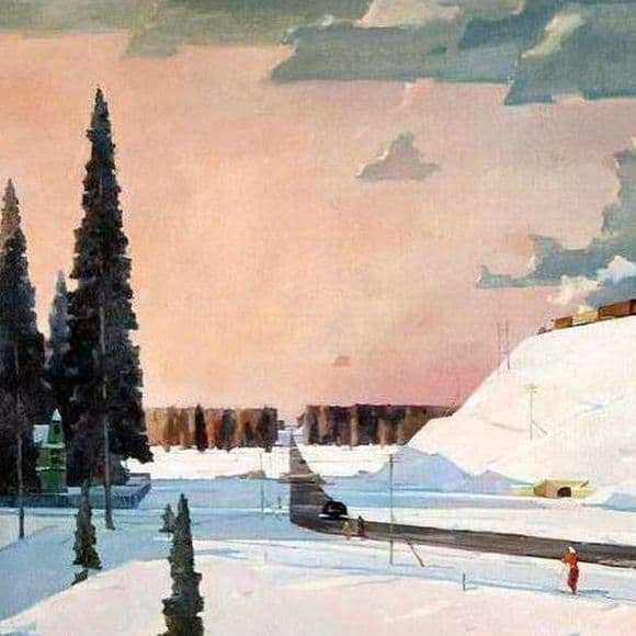 Description paintings of George Nyssa February. Moscow region
