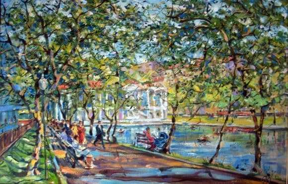 Description of the painting by Vladimir Orlov Clean Ponds