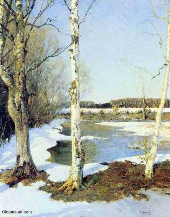 Description of the painting by Ilya Ostroukhova Early Spring