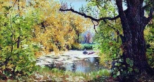 Description of the painting by Ilya Ostroukhov Autumn Landscape