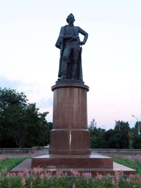 Description of the monument to Alexander Suvorov in Moscow