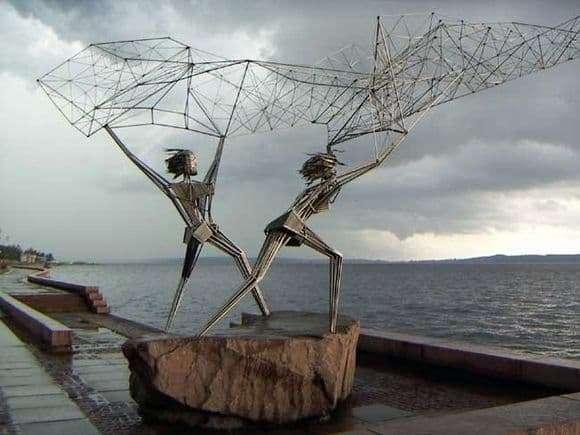 Description of the monument Fishermen in Petrozavodsk