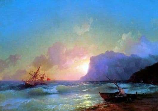 Description of the painting by Ivan Aivazovsky Sea. Koktebel bay