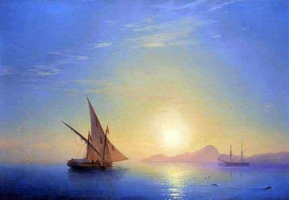 Description of the painting by Ivan Aivazovsky Sunset over Ischia