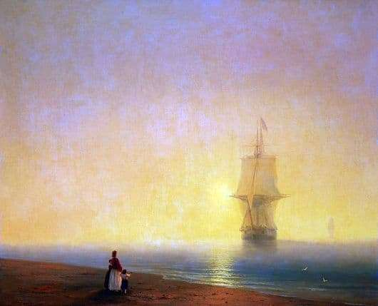 Description of the painting by Ivan Aivazovsky Morning at Sea