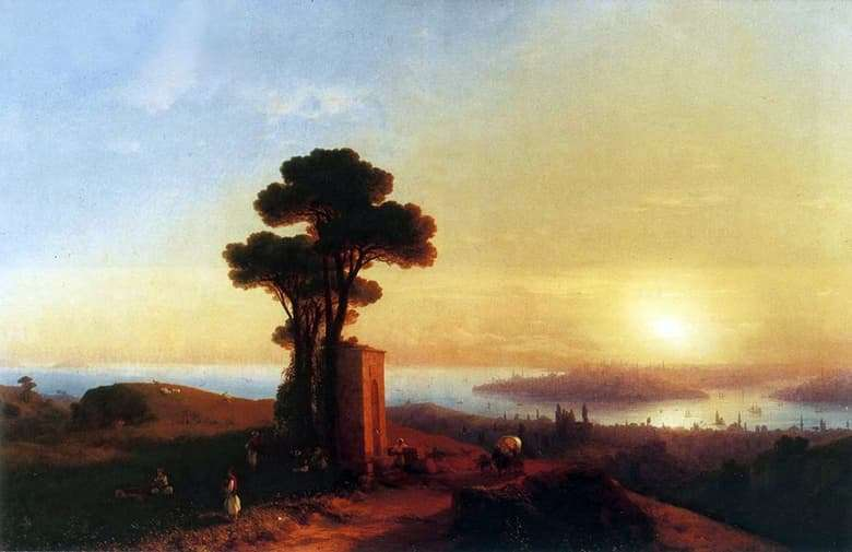 Description of the painting by Ivan Aivazovsky View of Constantinople