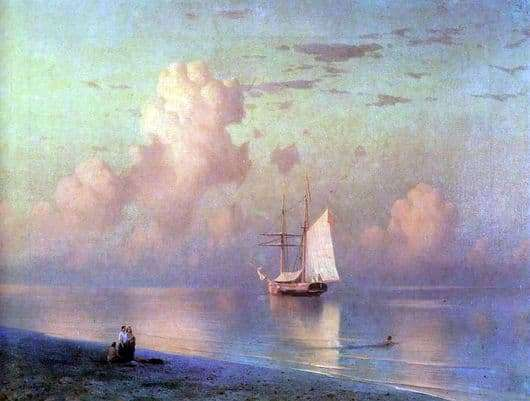 Description of the painting by Ivan Aivazovsky Sunset on the Sea