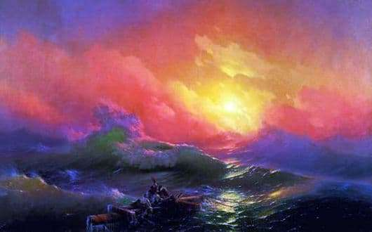 Description of the painting by Ivan Aivazovsky The Ninth Wave