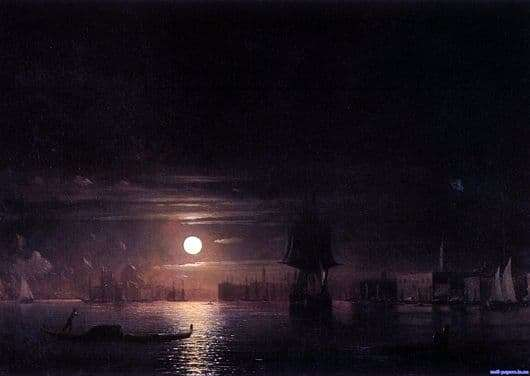 Description of the painting by Ivan Aivazovsky Night in Venice